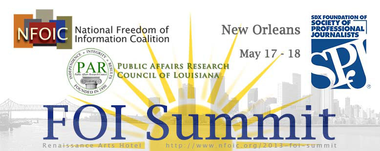 2013 FOI Summit banner